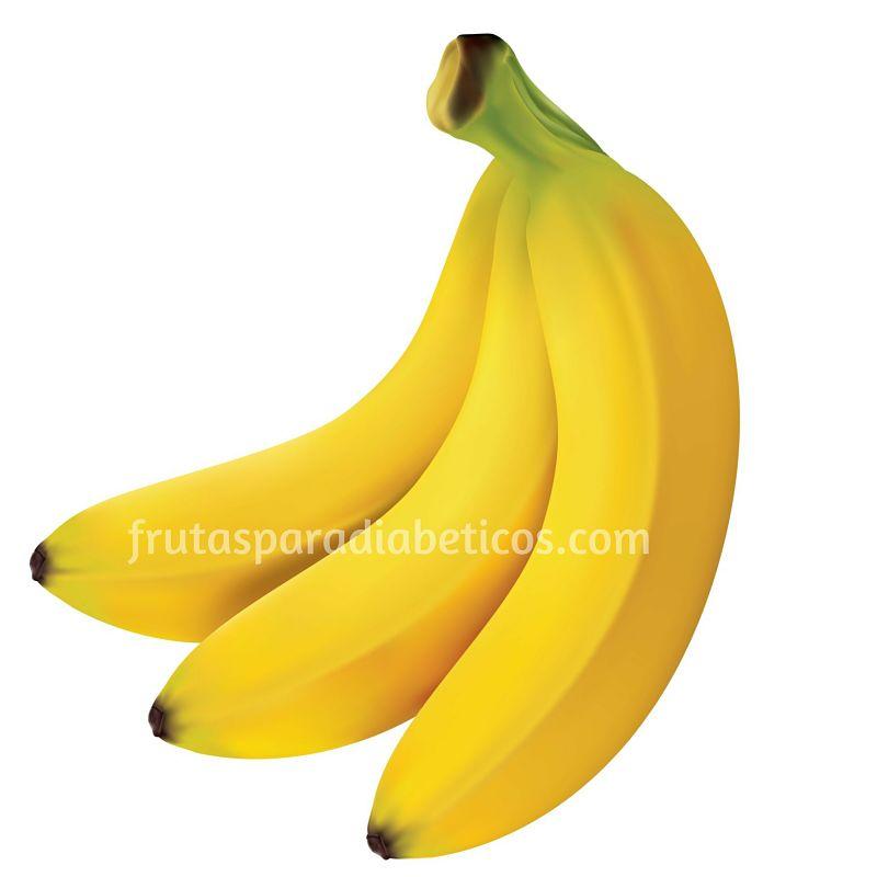 Frutas para diabeticos - El plátano